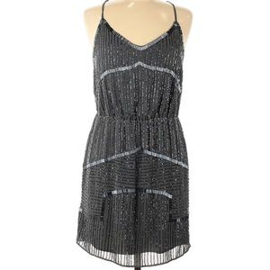 Walter Baker Grey Embroidered Beaded Dress